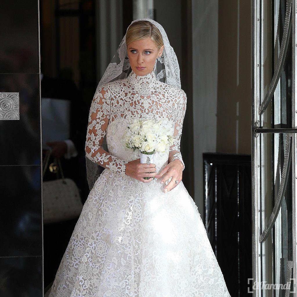 Valentino! Todas las fotos del costoso vestido de novia de Nicky Hilton