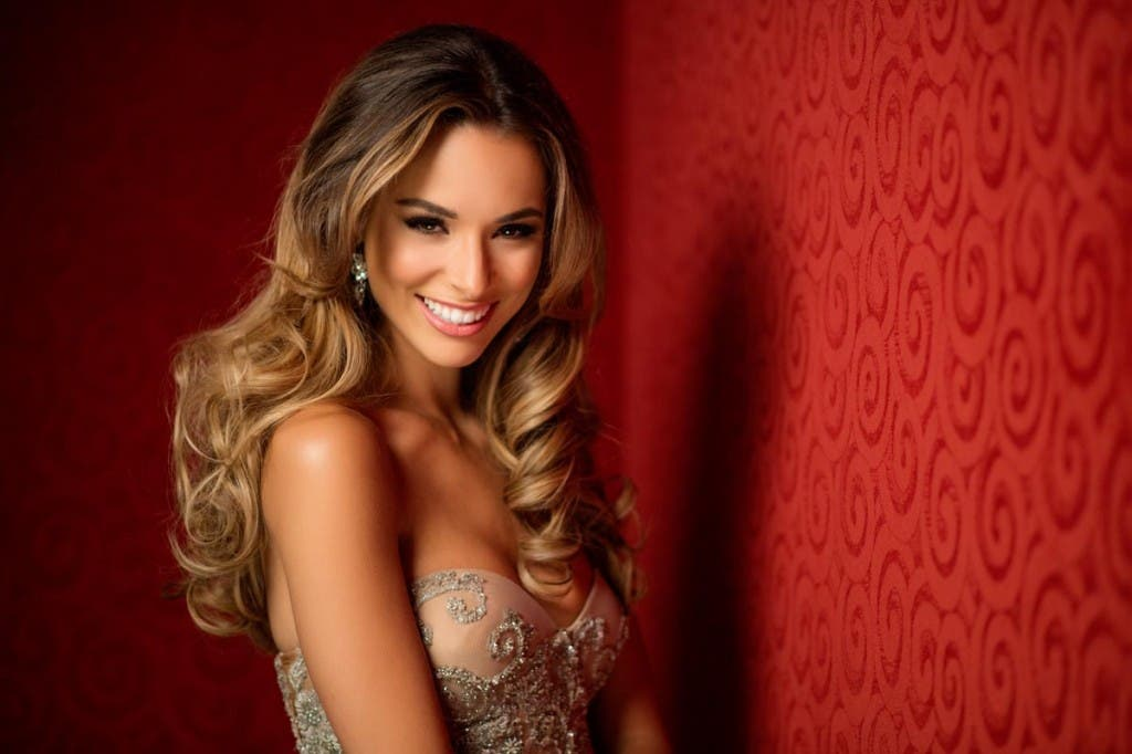 Monika Radulovic, Miss Australia 2015 poses in her evening gown upon arriving to Planet Hollywood Resort & Casino. The 2015 Miss Universe contestants are touring, filming, rehearsing and preparing to compete for the DIC Crown in Las Vegas. Tune in to the FOX telecast at 7:00 PM ET live/PT tape-delayed on Sunday, Dec. 20, from Planet Hollywood Resort & Casino in Las Vegas to see who will become Miss Universe 2015. HO/The Miss Universe Organization --LIGHT RETOUCHING--