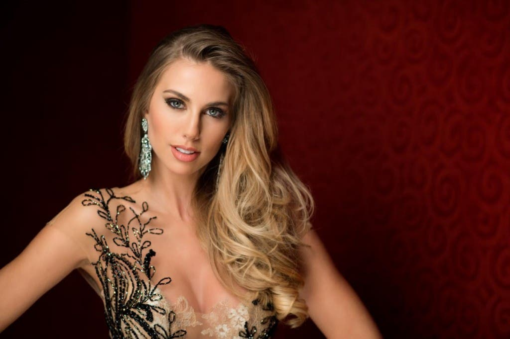 Marthina Brandt, Miss Brazil 2015 poses in her evening gown upon arriving to Planet Hollywood Resort & Casino. The 2015 Miss Universe contestants are touring, filming, rehearsing and preparing to compete for the DIC Crown in Las Vegas. Tune in to the FOX telecast at 7:00 PM ET live/PT tape-delayed on Sunday, Dec. 20, from Planet Hollywood Resort & Casino in Las Vegas to see who will become Miss Universe 2015. HO/The Miss Universe Organization --LIGHT RETOUCHING--