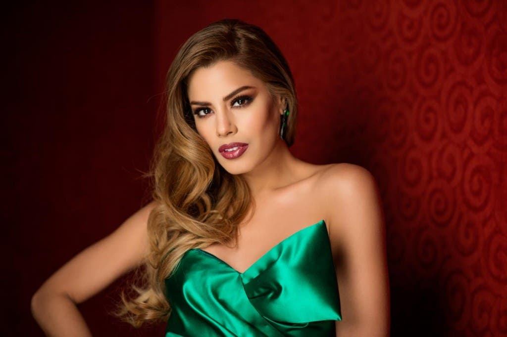 Ariadna Gutierrez, Miss Colombia 2015 poses in her evening gown upon arriving to Planet Hollywood Resort & Casino. The 2015 Miss Universe contestants are touring, filming, rehearsing and preparing to compete for the DIC Crown in Las Vegas. Tune in to the FOX telecast at 7:00 PM ET live/PT tape-delayed on Sunday, Dec. 20, from Planet Hollywood Resort & Casino in Las Vegas to see who will become Miss Universe 2015. HO/The Miss Universe Organization --LIGHT RETOUCHING--