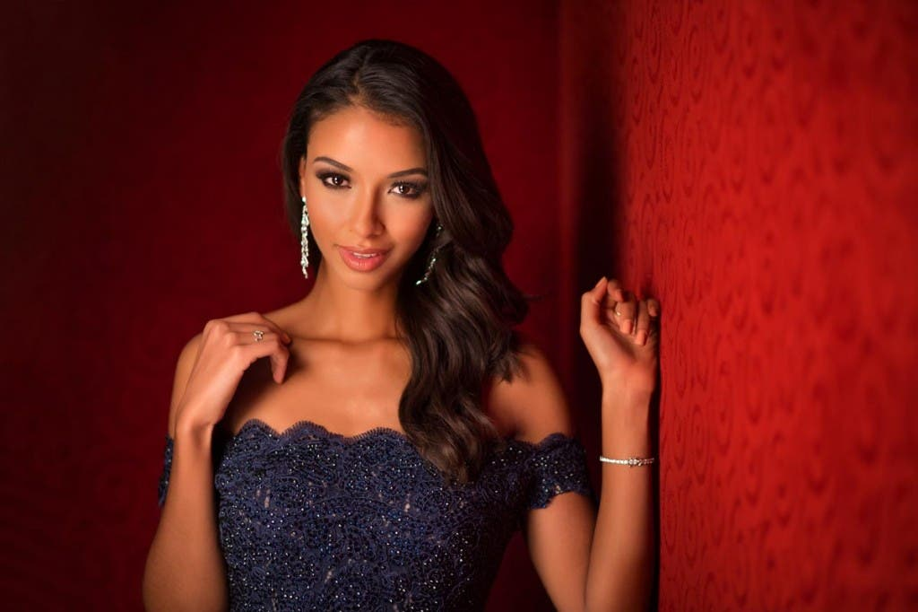 Flora Coquerel, Miss France 2015 poses in her evening gown upon arriving to Planet Hollywood Resort & Casino. The 2015 Miss Universe contestants are touring, filming, rehearsing and preparing to compete for the DIC Crown in Las Vegas. Tune in to the FOX telecast at 7:00 PM ET live/PT tape-delayed on Sunday, Dec. 20, from Planet Hollywood Resort & Casino in Las Vegas to see who will become Miss Universe 2015. HO/The Miss Universe Organization --LIGHT RETOUCHING--