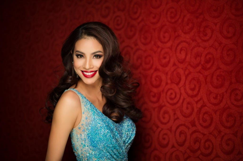 Huong Pham, Miss Vietnam 2015 poses in her evening gown upon arriving to Planet Hollywood Resort & Casino. The 2015 Miss Universe contestants are touring, filming, rehearsing and preparing to compete for the DIC Crown in Las Vegas. Tune in to the FOX telecast at 7:00 PM ET live/PT tape-delayed on Sunday, Dec. 20, from Planet Hollywood Resort & Casino in Las Vegas to see who will become Miss Universe 2015. HO/The Miss Universe Organization --LIGHT RETOUCHING--