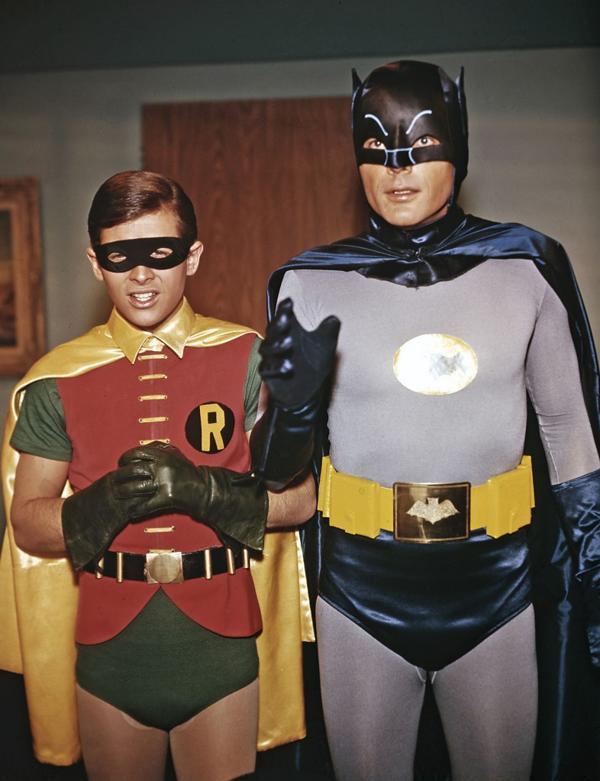 Burt Ward y Adam West protagonizaron la famosa serie de Batman de la década de 1960 (Grosbygroup)