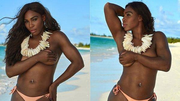 Omg Serena Williams Sorprende Posando En Topless Fotos