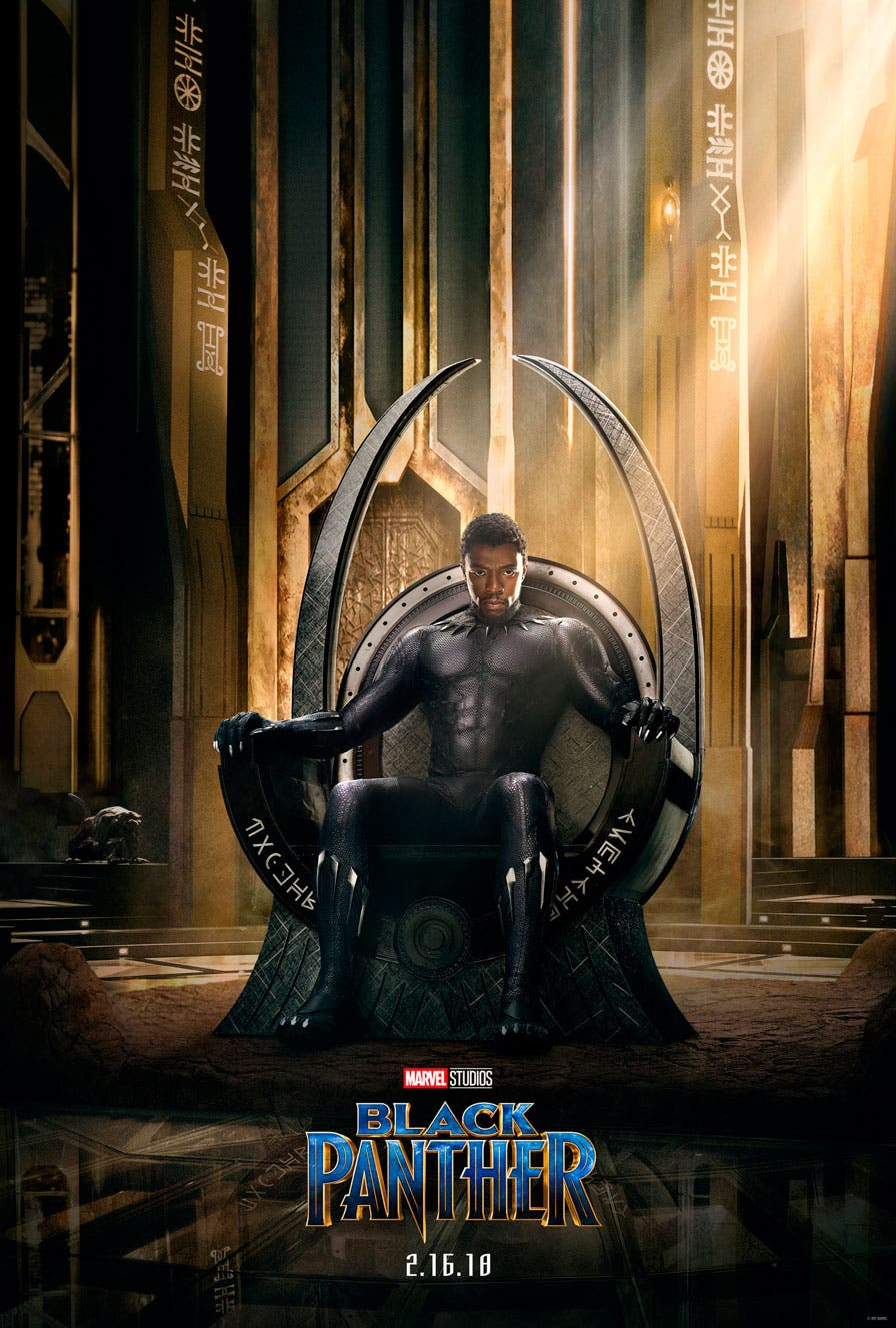 """Primer póster oficial de """"Black Panther"""" la película"""